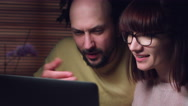 4K Business Shot of a Couple Working on Computer Together Serious Stock Footage