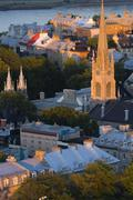 Anglican Cathedral of the holy trinity at sunset Quebec City, Quebec, Canada. Stock Photos