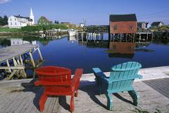 Prospect, a small fishing village near Halifax, Nova Scotia, Canada. Stock Photos