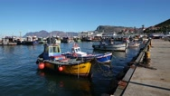 KALK BAY, WESTERN CAPE/SOUTH AFRICA  Time lapse of fishi Stock Footage