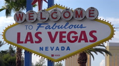 Welcome to the fabulous Las Vegas sign at the beginning of the Strip Stock Footage