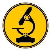 Microscope button. Stock Illustration
