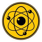 Atom button. Stock Illustration