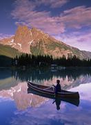 Emerald Lake, Yoho National Park, British Columbia, Canada. Stock Photos