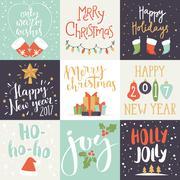 Christmas invitation card vector illustration Stock Illustration