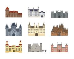 Castle cartoon vector illustration Stock Illustration