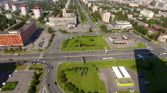 The Constitution Square, St. Petersburg, Russia Stock Footage