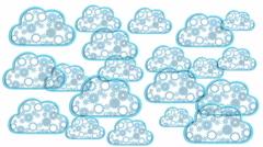 Cloud computing theme loop - 3D render Stock Footage