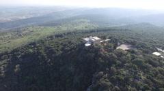 Mount Carmel and  Muhraka Monastery  overview (Israel aerial footage) Stock Footage