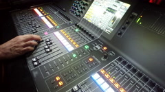 Audio mixer, tv, production, music concert operator Stock Footage