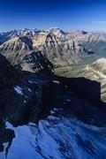 Aerial of the Bow range, Banff National Park, alberta, Canada. Stock Photos