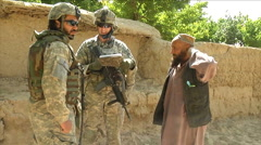 Soldiers on patrol in Zabul Province Afghanistan. Stock Footage