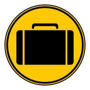 Portfolio symbol button. Stock Illustration