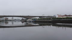 Timelapse of traffic crossing the Kingston Bridge over the River Clyde, Glasgow Stock Footage