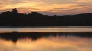 Sunrise shoreline. Cottage country in Ontario, Canada. Stock Footage