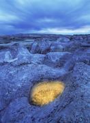 Hoodoos, Milk River Badlands, Writing on Stone Provincial Park, Alberta, Canada. Stock Photos