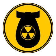 Bomb button. Piirros