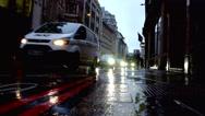 Raod Traffic in the rain Stock Footage