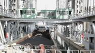 Boat Lift, Niederfinow, Brandenburg, Germany Stock Footage