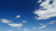 Timelapse : clouds in the sky Stock Footage