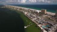 Pensacola Beach Aerial Stock Footage