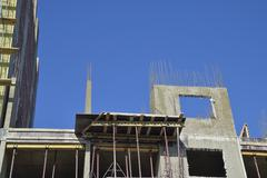 Construction of a multistory building Stock Photos