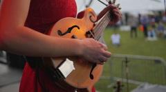 Music Festival Concert, Mandolin Closeup 2 Stock Footage