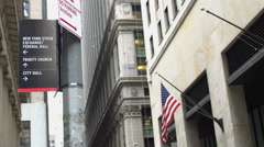 New York City financial district Arkistovideo