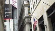 New York City financial district Stock Footage