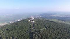 Mount Carmel - The Muhraka Monastery (Israel aerial footage) Stock Footage
