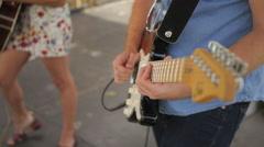 Music Festival Concert, Electric Guitar Closeup 1 Stock Footage