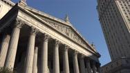 The New York City Supreme Court, 60 Centre Street, Manhattan, New York. Stock Footage