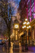 Steam Clock, Water St. Gastown, Vancouver, British Columbia, Canada Stock Photos