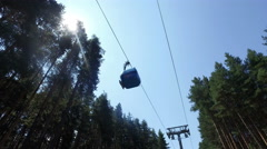 A ropeway on a background of blue sky, 4k Stock Footage