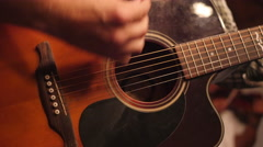 Music Festival Concert, Accoustic Guitar Closeup 12 Stock Footage