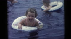 1954: children swimming PENNINGTON, NEW JERSEY Stock Footage