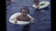 1954: children swimming PENNINGTON, NEW JERSEY Stock Footage