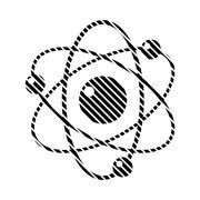 Atom sign on white. Stock Illustration