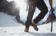 Mountaineering in the back country of Alberta, Canada. Stock Photos
