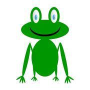 Frog icon on white. Stock Illustration