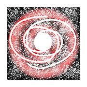 Space galaxy on white. Stock Illustration
