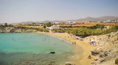 Lolalontis beach at Paros island in Greece. Stock Footage