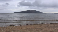 Timelapse of Lamlash Bay with Holy Isle, Arran Scotland Stock Footage