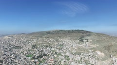 Mount Ebal and Nablus overview (Israel  aerial footage) Stock Footage