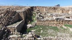 Mount Gerizim - Hellenistic period walls (Israel aerial footage) Stock Footage