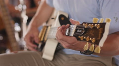 Music Festival Concert, Electric Guitar Closeup 3 Stock Footage