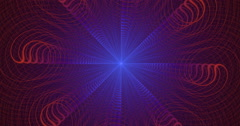 4K abstract wavy purple and red lines motion background seamless looping fractal Stock Footage