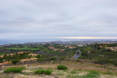 5K MoCo Pan Time Lapse Overview of Newport Beach in California Stock Footage