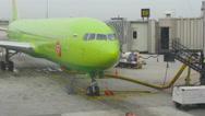 Airplane at Suvarnabhumi Airport Stock Footage