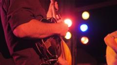 Music Festival Concert, Mandolin Closeup 4 Stock Footage